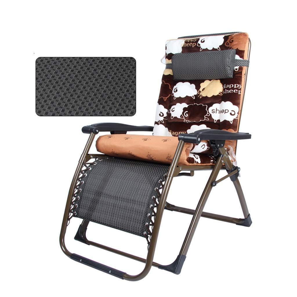 折りたたみデッキチェアリクライニングチェアチェアパティオガーデンビーチバルコニー寝室リビングルームサンラウンジャー睡眠椅子家庭用多機能折りたたみ椅子,B B07SHC6CTM B