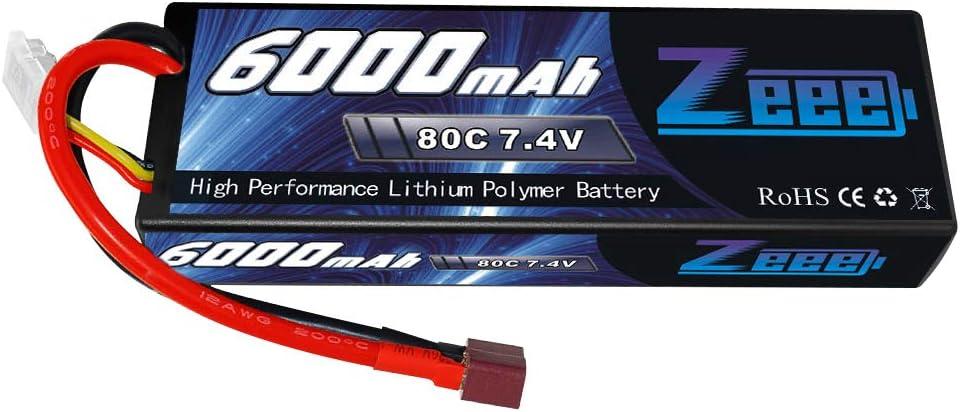 Bateria Lipo 6000mah 80c 2s 7.4v Conector Deans Zeeee
