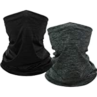2 Pieces Face Scarf Mask UV Protection Face Covers Summer Face Cover Gaiter Dust-Proof Breathable Bandana