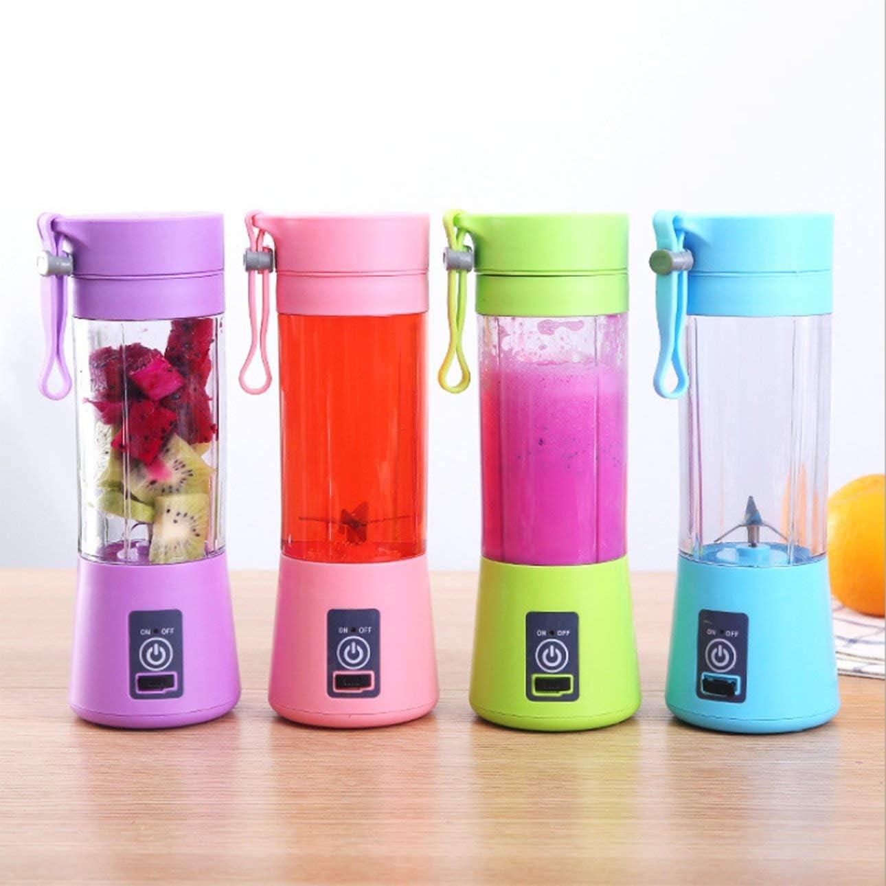 Ballylelly 4 klingen Mini USB wiederaufladbare tragbare elektrische fruchtsaftpresse Smoothie Maker Mixer Maschine Sport Flasche entsaften Tasse