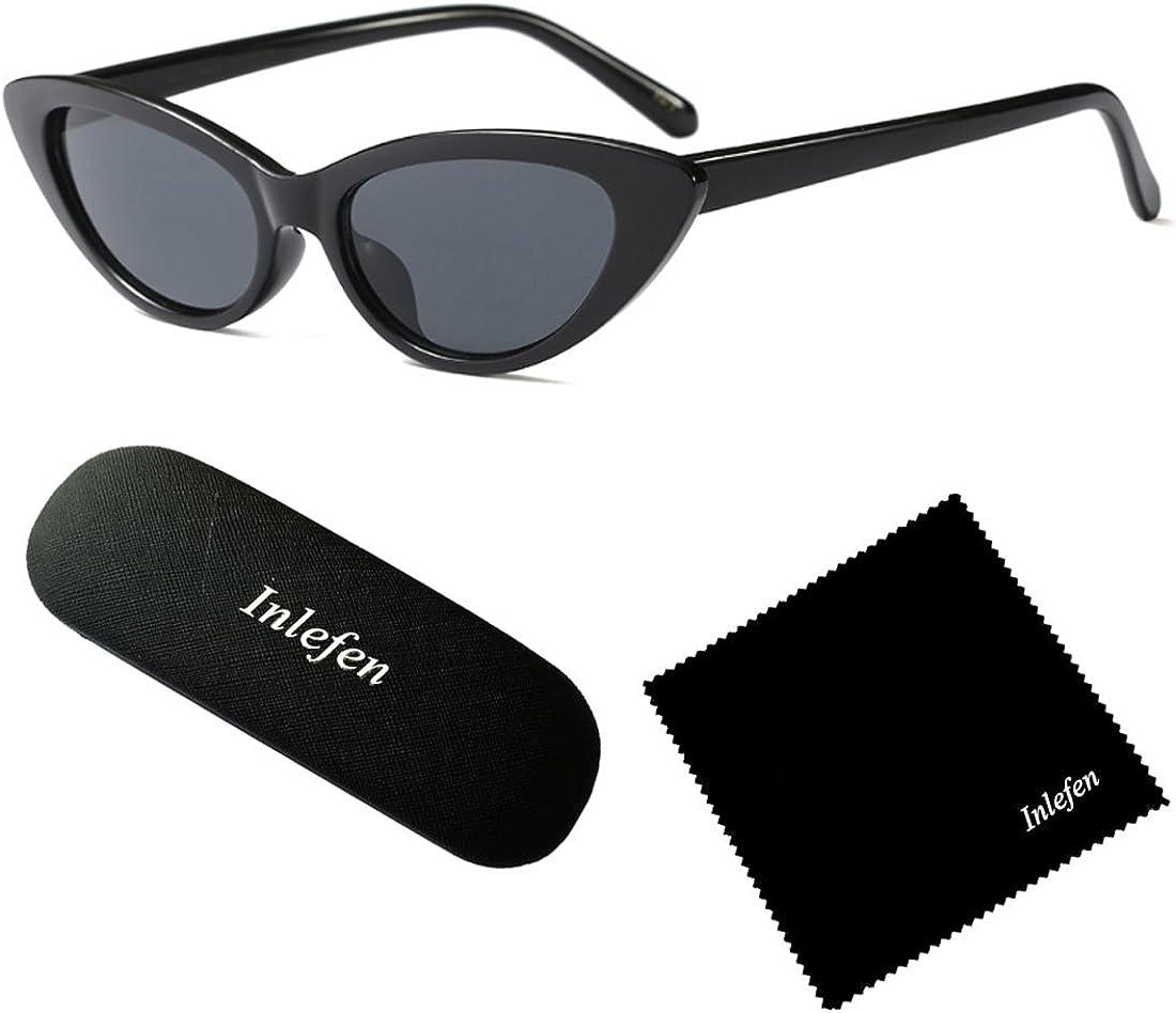 Inlefen women fashion Simple sunglasses Retro glasses Men and women Sunglasses