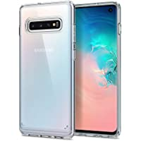 Spigen 605CS25801 Ultra Hybrid with Clear Hybrid Drop Protection Designed for Galaxy S10 Case Cover (2019), Crystal Clear