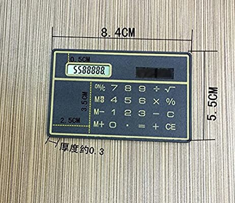 Taschenrechner Kreditkarte Gr/ö/ße Slimline Travel