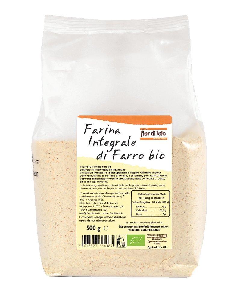 Fior di Loto Harina de Espelta Integral - 500 gr: Amazon.es: Alimentación y bebidas