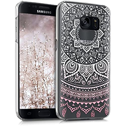 kwmobile Elegant and light weight Crystal Case Design Indian sun for Samsung Galaxy S7 in light pink white transparent Sales