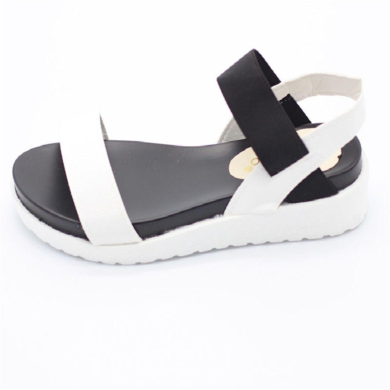 Aworth Spring Summer Women Sandals Female Robe Thick Platform Buckle with Roman Light Black Sandals Shoes .HYKL-810 B07C73WL68 6 B(M) US Sky Blue