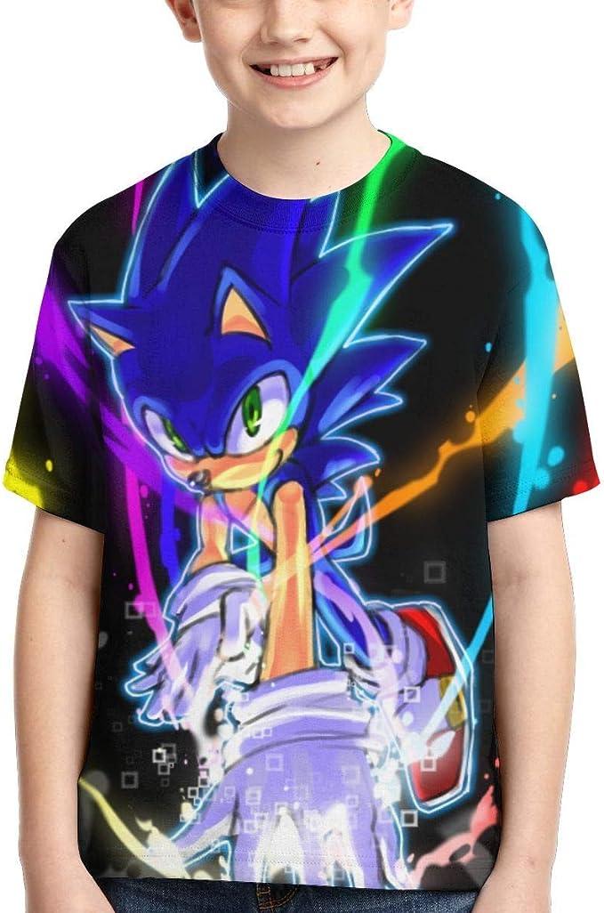 HGdggvd Sonic The Hedgehog Niños Ropa de Dibujos Animados Niñas 3D ...