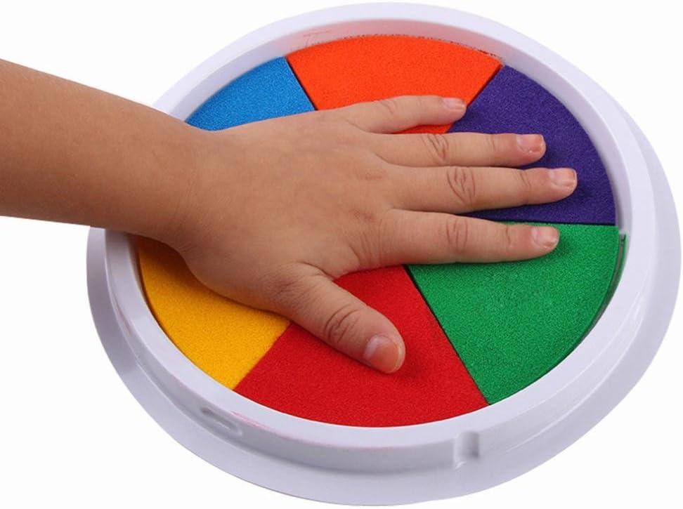Gusspower 6 colores bricolaje almohadilla de tinta sello dedo ...