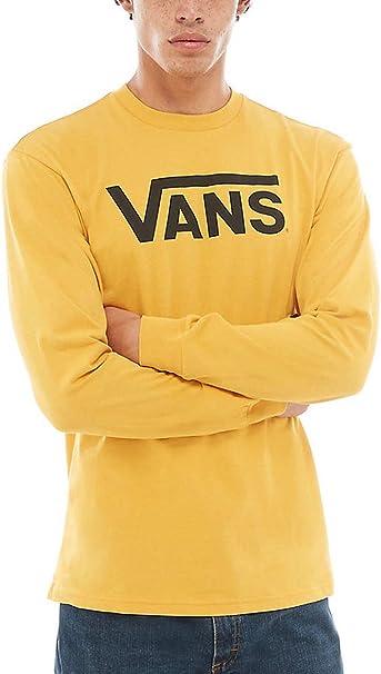 Vans - T-Shirt à manches longues - Homme Jaune citronier ...