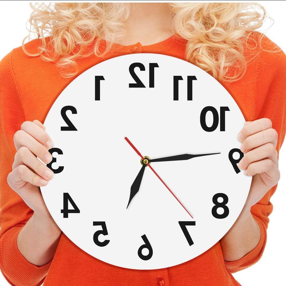 Horloge Murale Inversée Avec Chiffres Inhabituels à L Arrière Horloge Moderne Décorative Excellente Montre Pour Votre Mur Amazon Ca Maison Et Cuisine