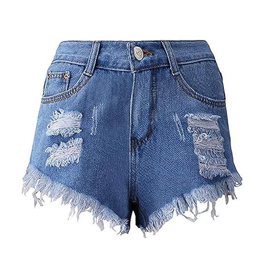 d28b94d9e4 Amazon.com: Women Shorts, Women's Jeans Summer Sexy Tassel Hole Shorts  Pants Denim Short Pants for Teen Girls: Clothing