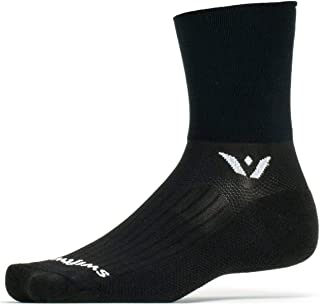 product image for Swiftwick ASPIRE FOUR Trail Running, Cycling Crew Socks, Firm Compression Fit