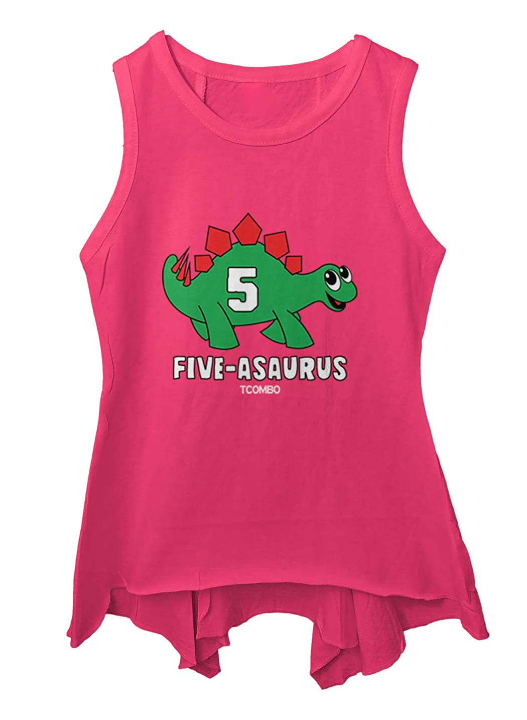 5 Year Old Dinosaur Toddler//Youth Sleeveless Backswing Tcombo Five-Asaurus