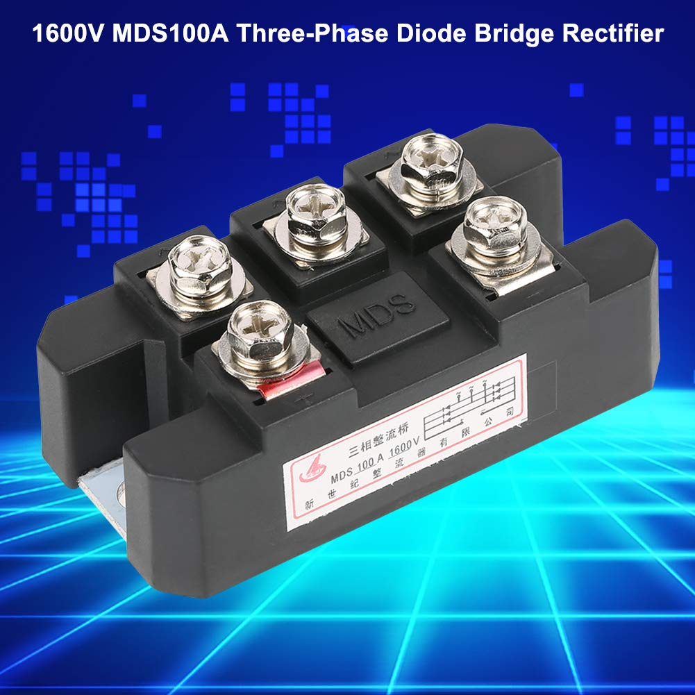 High Power 100a 1600v Three Phase Diode Bridge Rectifier Mds100a Basic Circuit Other Black Industrial Scientific