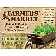 Farmers' Market Natural Bar Soap, Lemongrass and Basil, 5.5 Ounce