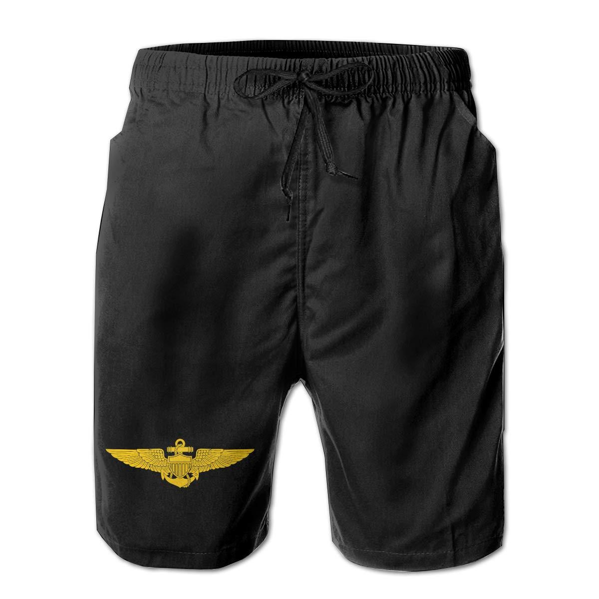 US Navy Pilot Wings Men Summer Casual Shorts,Beach Shorts Board Shorts