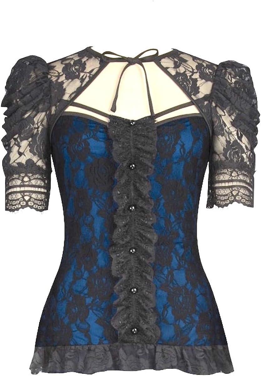 Gothic Rockabilly Camisas - para Mujer: Amazon.es: Ropa y accesorios