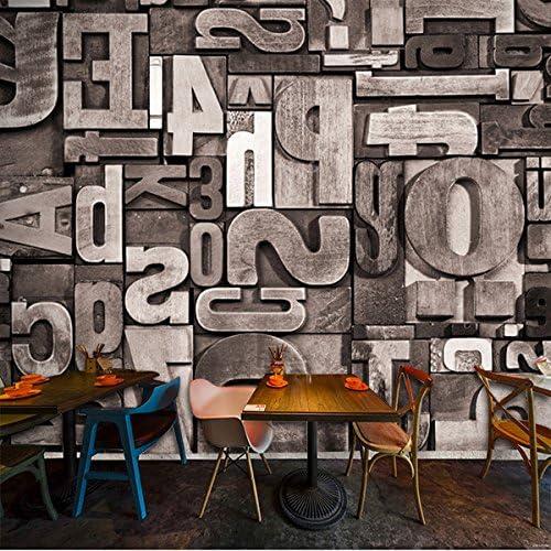 Wongxl Retro 3D De Grano De Madera Letras Inglesas Gran Bar Fresco ...