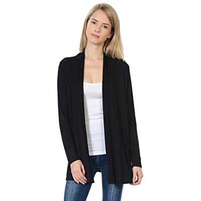 Pastel by Vivienne Women's Long Sleeve Jersey Cardigan (25+ Colors/S-XL) at Women's Clothing store