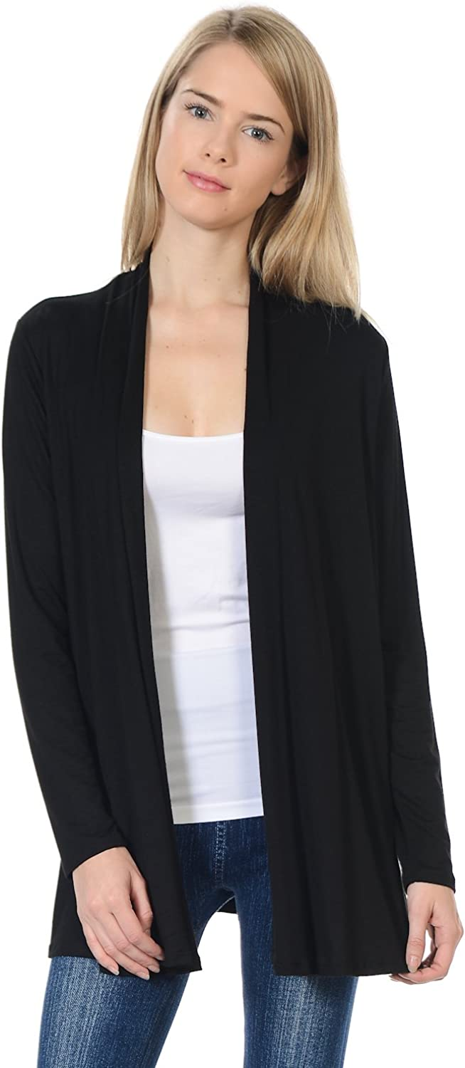 Pastel by Vivienne Women's Long Sleeve Jersey Cardigan (25+ Colors/S-XL)