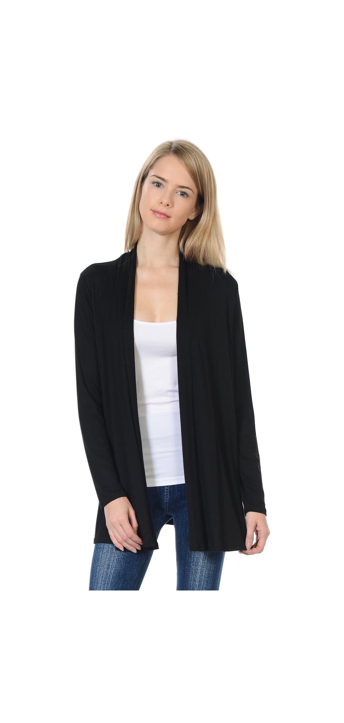 Women's Long Sleeve Jersey Cardigan