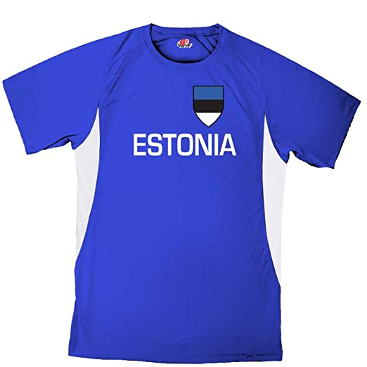 Custom Estonia Soccer Jersey Personalized with Your Names and Numbers