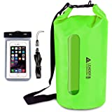 Leader Accessories Waterproof PVC Dry Bag with Clear Window and Phone Case for Boating Camping Kayaking Fishing Swimming Floating