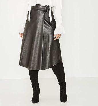 cuir Noir Femme effet Jupe Promod 44 aFxEq6Upyw