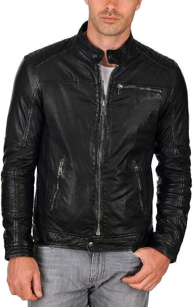 Paradigm Mens Black Genuine Lambskin Leather Stylish Jacket SL311