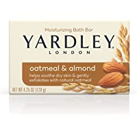 Yardley Oatmeal and Almond Bar Soap, Oatmeal & Almond, 4.25 Ounce (Pack of 24)