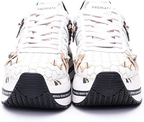 Sneakers Mujeres PREMIATA Beth 4521 Cuero Blanco: Amazon.es: Zapatos y complementos