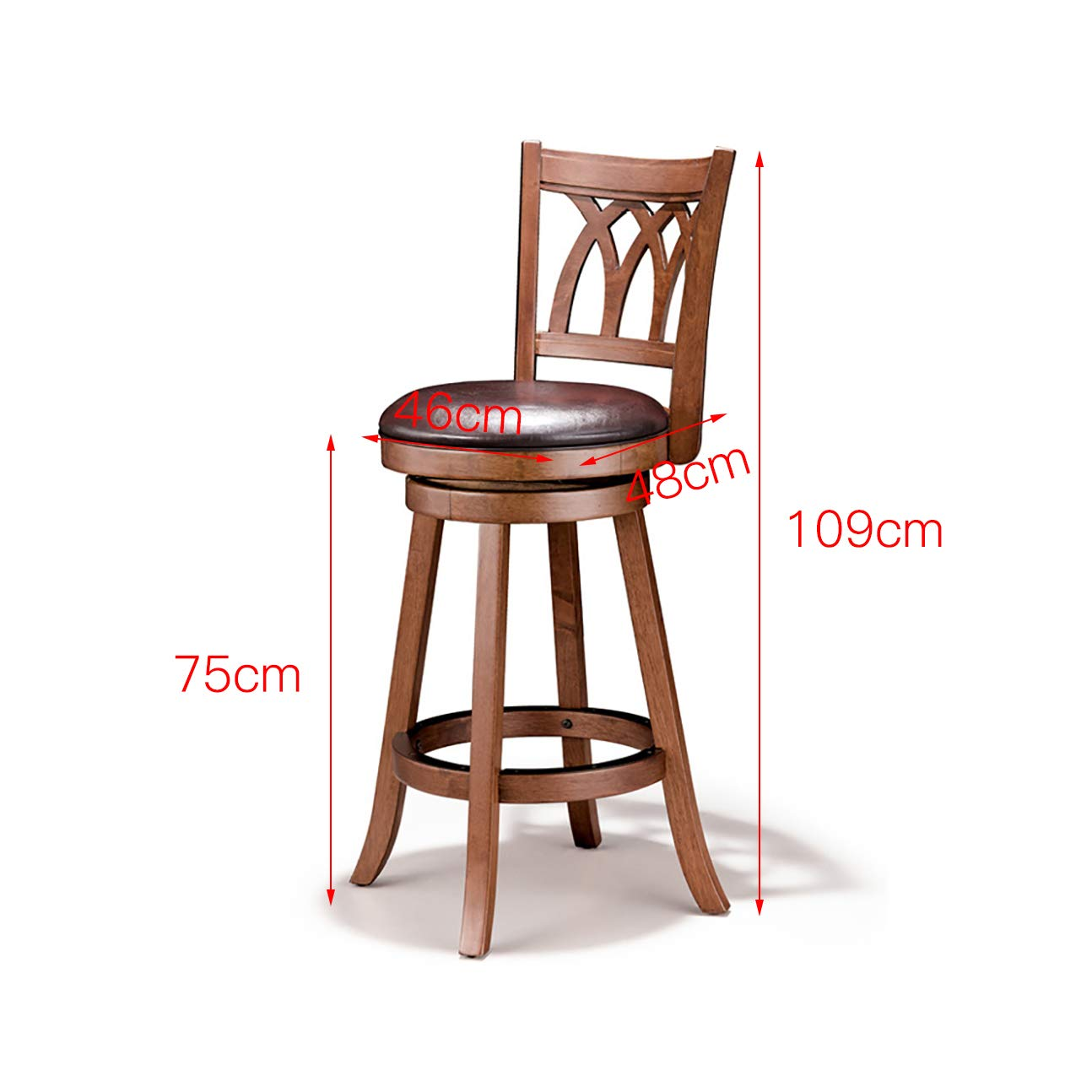Furniture American Bar Chair Retro Lift And Rotate Solid Wood Chairs Stool The Front Desk Chair Solid Wood Bar Chair Bar Stool Sale Price