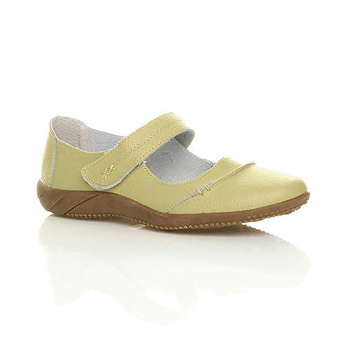 0418e8653e384b Ajvani Chaussure Femme Plate décontractée Cuir Confort Travail Taille 3 36