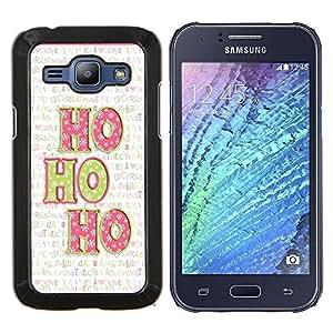 TECHCASE---Cubierta de la caja de protección para la piel dura ** Samsung Galaxy J1 J100 ** --Navidad del día de fiesta de invierno Texto