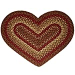 IHF Home Decor Cinnamon Heart Jute Braided Rug 20 x 30 Inch