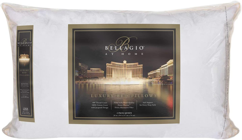 Bellagio - Almohadas de Reina de 400 Hilos, 2 Unidades: Amazon.es: Hogar