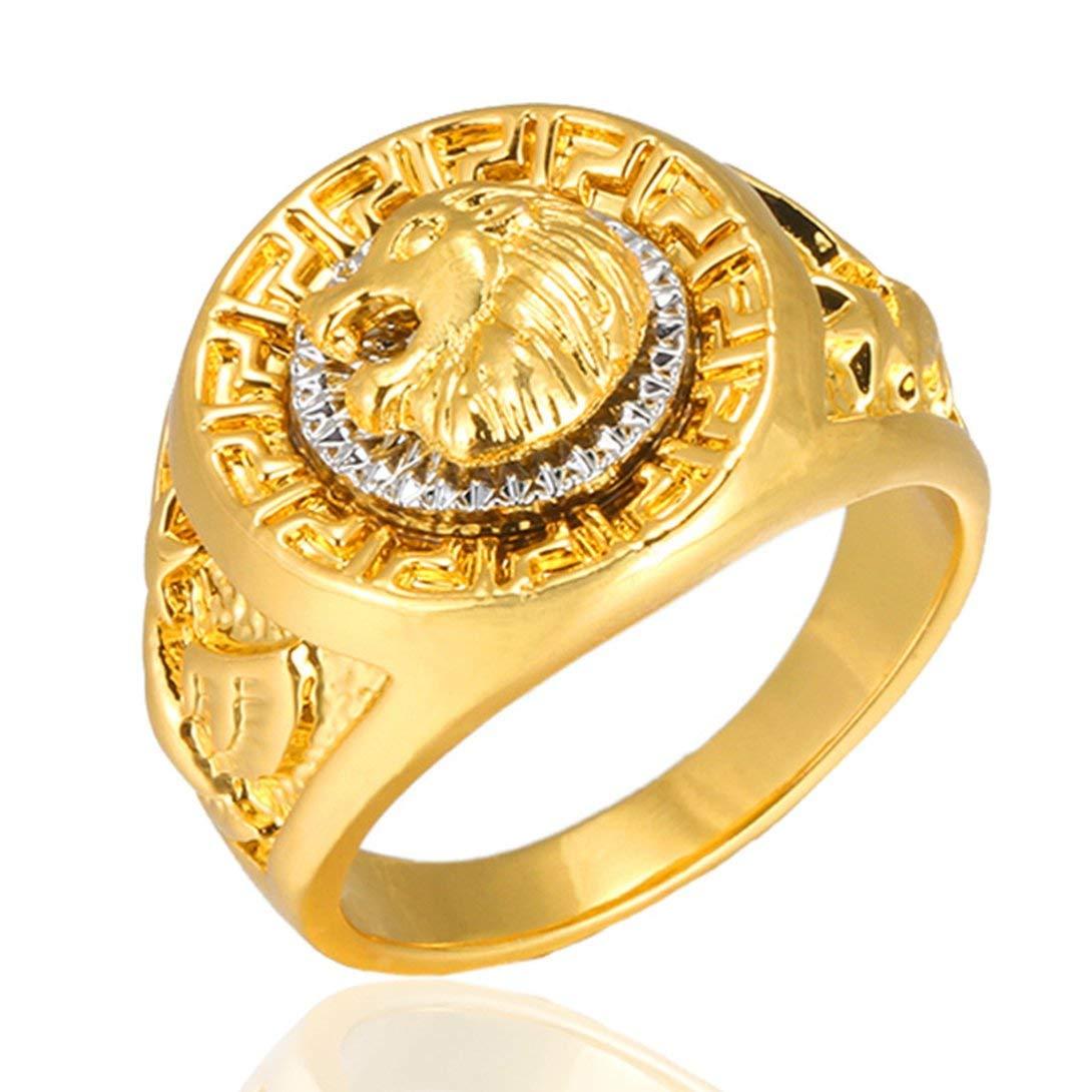 Swiftswan L'anello d'oro della Lega di Stile di Hip Hop di Marca di Tendenza dell'anello alla Moda dell'anello per Gli Uomini ha Personalizzato i monili di Modo