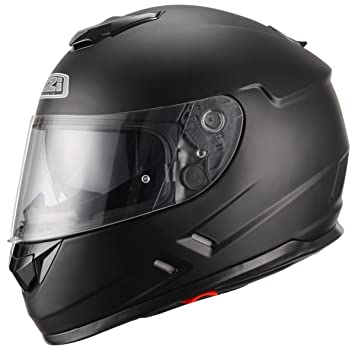 NZI Casco de moto integral Symbio Negro Mate Talla L (58-59cm)
