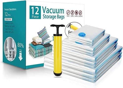 Amazon.com: BRIGENIUS Bolsas de almacenamiento al vacío, 12 ...