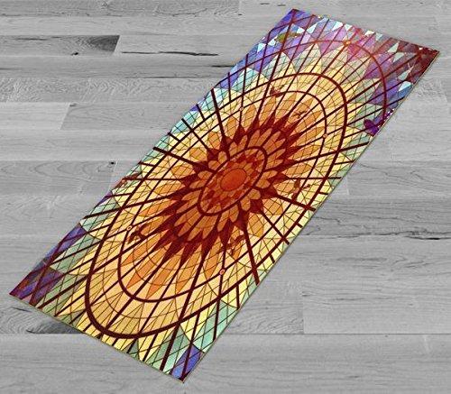 Pimp Myヨガマット – ステンドグラスCieling – 元アートワーク72 x 24 inヨガマット/ピラティスマット、1 / 8 in厚   B06Y491XTF
