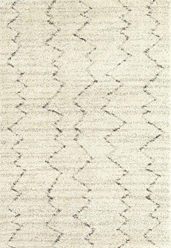 Karastan Prima Shag Fassi Woven Rug, 5'3x7'7, Ivory
