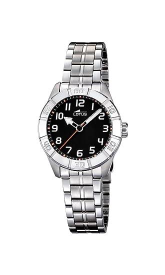 Lotus 0 - Reloj de cuarzo para mujer, con correa de acero inoxidable, color plateado: Lotus: Amazon.es: Relojes