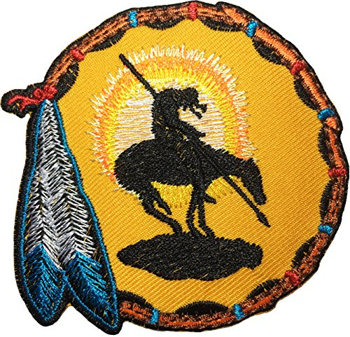 Diy Sexy Indian Costumes (Papapatch End Of The Trail Native American Warrior Indian Jacket Vest Costume Embroidered Sewing Iron on Patch (IRON-END-OF-THE-TRAIL))