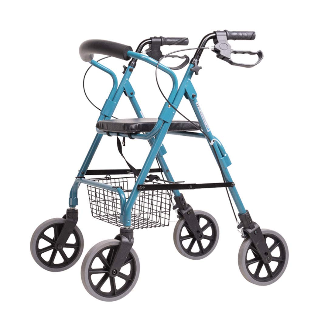 オールドマンショッピングカート、オールドマントロリーウォーカーアルミ合金四輪Foldableシート付き B07MXTJ39G