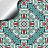 24 Turkish Mint - Self Adhesive Mosaic Wall Tile Decals For 6 inch 15cm Square Tiles -(TP 80)- Stick On Wall Tile Transfers Directly From TILE STYLE DECALS, No Middleman