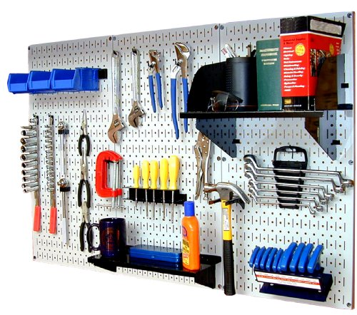 Wall Control 30-WRK-400WB Standard Workbench Metal Pegboard