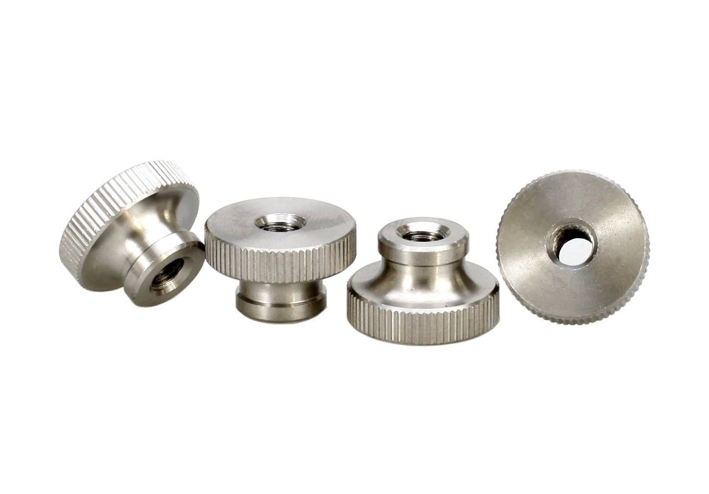M3 Knurled Thumb Nuts, Knurled Nut with Collar, Round Thumb Nut, Stainless Steel, Pack 8 pcs HZSTONE