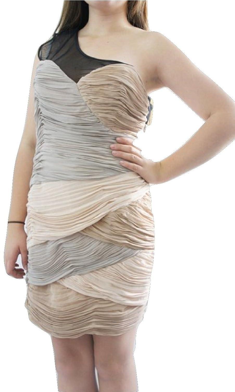 LipsyDamen Kleid, Einfarbig Beige Beige / Pink