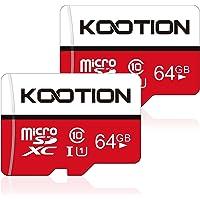 64GB Micro SD Card 2 Pack Ultra Micro SDXC Memory U1 Card Class 10 Micro SD Cards 64GB High Speed TF Card R Flash, C10…