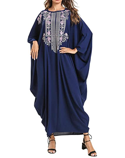 zhxinashu Arabe de Kaftan Mujer Vestidos - Ropa Traje Maxi ...